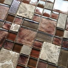 Houzz Kitchen Tile Backsplash Burgundy Red Glass Mosaic Wall Tile Stone Kitchen Backsplash Tiles