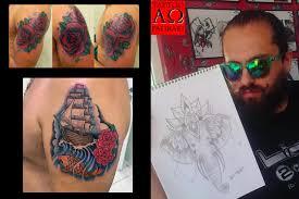 a omega tattoo art studio apha omega rhodes rodos faliraki greece