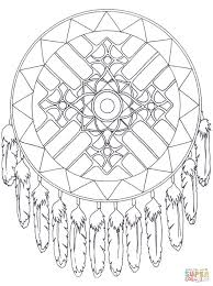native american dreamcatcher mandala coloring page with coloring