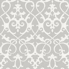 Stick And Peel Wallpaper by Shop Brewster Wallcovering Peel And Stick Grey Vinyl Damask
