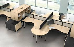 workstation desk wooden contemporary commercial fusion