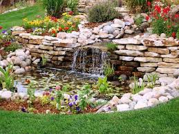 best garden waterfalls ideas at your yard with beautiful design