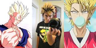anime hairstyle gohan and hiruma hairstyle tutorial youtube