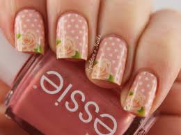 peach polka dot rose nails pictures photos and images for
