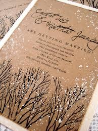 winter wedding invitations rustic wedding invitations tree hand