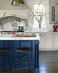 white kitchen cabinets with blue island roses are violets are blue if your color is navy i