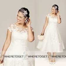 plus size tea length wedding dresses csmevents com