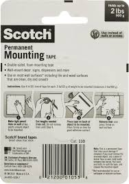 How To Hang Posters Without Damaging Walls by Scotch Foam Mounting Double Sided Tape 1 2