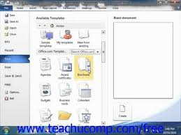 word 2010 tutorial using templates 2010 microsoft training lesson