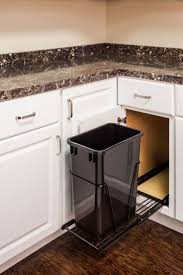 pull out trash can for 12 inch cabinet kitchen glossy black pull out trash can showing cleanness and