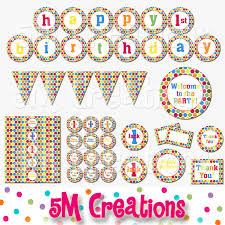 free printable halloween cupcake toppers polka dot birthday party printable decorations package