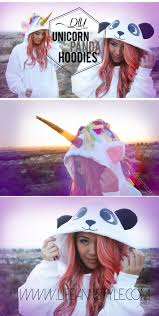 Girls Panda Halloween Costume Diy Unicorn Panda Hoodie Halloween Costume Www Annlestyle