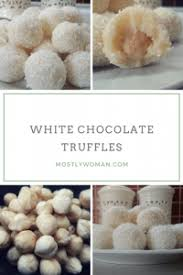 white chocolate truffles raffaello balls mostly