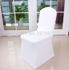 chair covers for cheap aliexpress buy 50 white spandex wedding chair covers for intended