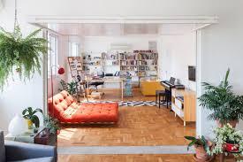 Brazilian Interior Design by Translucent Fold Up Doorway Transforms This Brazilian Apartment