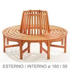 panchine legno panchina circolare in legno da giardino per giro albero