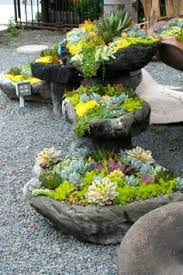 The Enchanted Rock Garden Succulent Rock Garden Garden Pinterest Cake Table Gardens