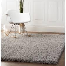 Shag Carpet Area Rugs Area Rugs Cozy Plush Solid Gray Shag Rug 2 X 3