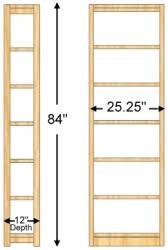 Bookcase 24 Wide 12 X 84 X 24 Bookcase