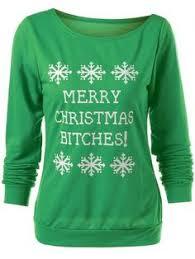 plus size christmas letter print sweatshirt