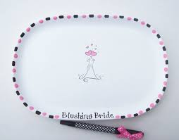 ceramic signature plate for bridal shower guest book