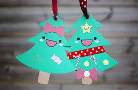 kawaii christmas tree card craft u2013 kao ani com