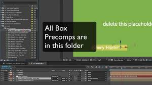 3d text box after effects template adding more boxes youtube