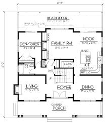 craftsman floor plan cottage country farmhouse design bungalow craftsman house plan