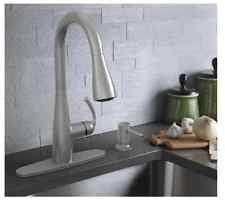 kitchen faucet with soap dispenser moen essie 87014srs kitchen faucet and soap dispenser in stainless