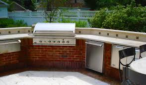 Outdoor Kitchen Backsplash by Outdoor Kitchens Hirsch Brick And Stone
