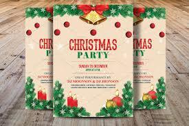 christmas party flyer template flyer templates creative market
