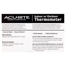 Patio Thermometer by Acurite 5 25