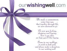 wedding donation registry ourwishingwell online gift registry and wishing well