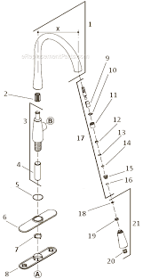 kohler kitchen faucets replacement parts faucet kohler k 4m parts list and diagram ereplacementparts com