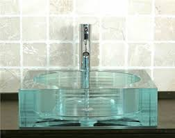 green glass vessel bathroom sinks stylish glass vessel sinks home design by ray