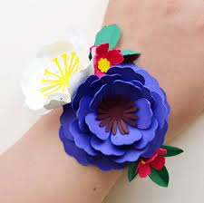 flower corsage handmade paper flower wrist corsage by may contain glitter
