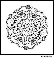 flower mandala coloring pages hop free mandala coloring