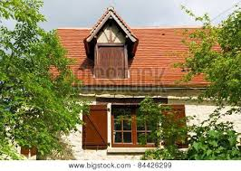 French Dormer Windows Dormer Window On A Red Roof Of A French House Image Cg8p4426299c