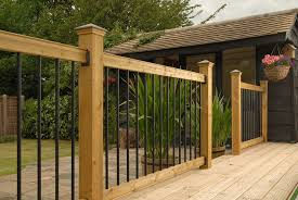 Outdoor Banisters And Railings How To Install Deck Railings And Balusters Yourself