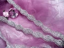 Antiqued Pink And Fuschia Beaded Sequin U0026 Rhinestone Appliques U0026 Venice Lace Trim For Sale From