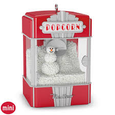 poppy holidays mini popcorn machine ornament with light