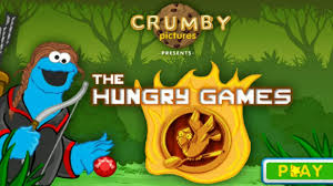 sesame street the hungry games cookie monster hunger games