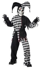 Halloween Costumes Scary Evil Clown Jester Halloween Costume Products