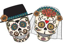 day of the dead wedding illustration from day of the dead wedding invite by alpert