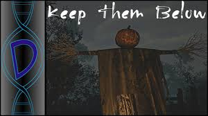 keep them below halloween horror game a spooky scary scarecrow