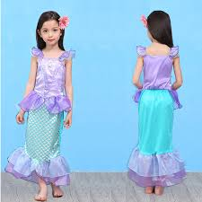 Mermaid Halloween Costume Kids Aliexpress Buy Girls Dress Mermaid Halloween