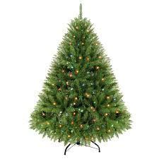 c4 4 5 ft pre lit clayton spruce christmas tree at home at home