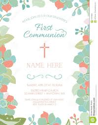 First Communion Invitations Cards First Communion Baptism Christening Invitation Template With