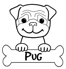 good pug coloring 67 coloring pages adults pug