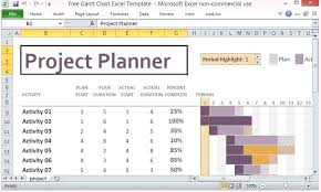 Simple Project Plan Template Excel Free Gantt Chart Excel Template